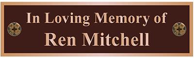 Bench Plaques Memorial Bench