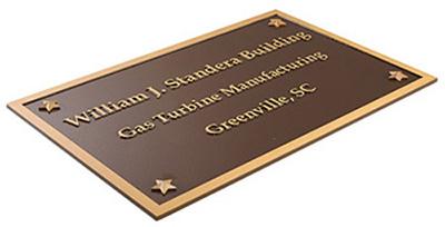 Cast Bronze building Plaque