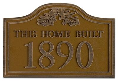 Cast Antique Plaque