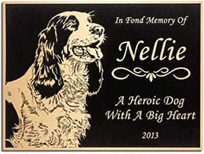 Cast memorial pet plaque