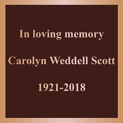 Cast Memorial Plaque