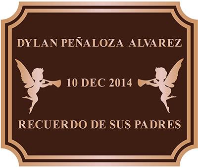 """Bronze plaque 12""""wx10""""h double line border"""
