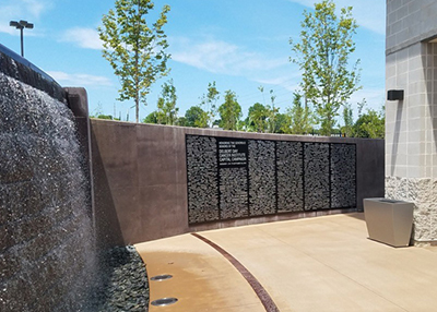 Etched Bronze Donor Memorial Wall