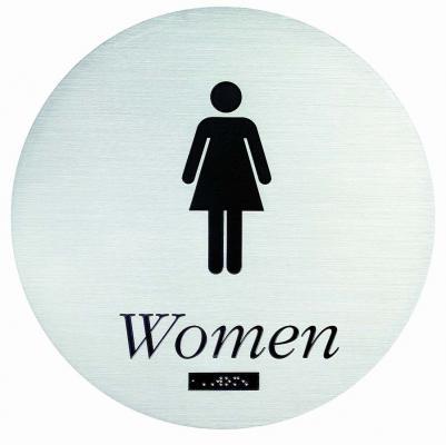 Etched Restroom Sign