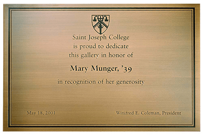 Etched Engraved Plaque